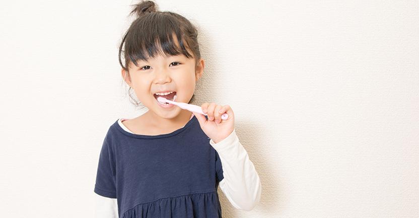 子供,歯磨きの笑顔